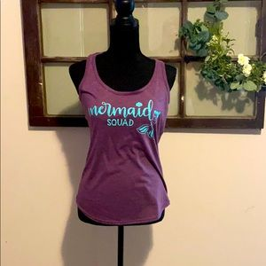 Mermaid Squad Purple Teal  Tank
